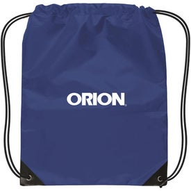 Small Nylon Drawstring Backpack Branded with Your Logo