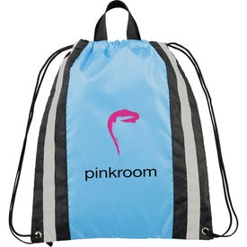 Small Reflective Drawstring Cinch Backpack Giveaways