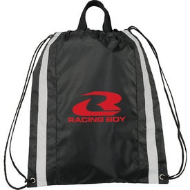 Small Reflective Drawstring Cinch Backpack for Advertising