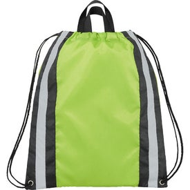 Small Reflective Drawstring Cinch Backpack for Promotion