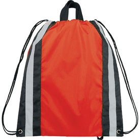 Company Small Reflective Drawstring Cinch Backpack