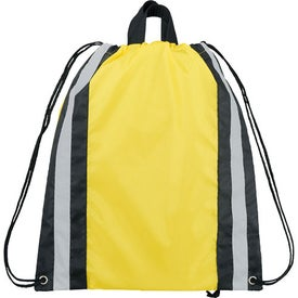 Customized Small Reflective Drawstring Cinch Backpack