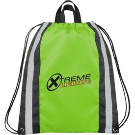 Promotional Small Reflective Drawstring Cinch Backpack