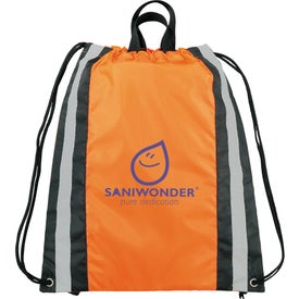 Small Reflective Drawstring Cinch Backpack for your School