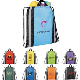 Small Reflective Drawstring Cinch Backpack