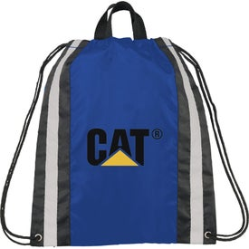 Small Reflective Drawstring Cinch Backpack Imprinted with Your Logo