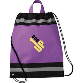 Small Eagle Drawstring Cinch Backpack with Your Slogan