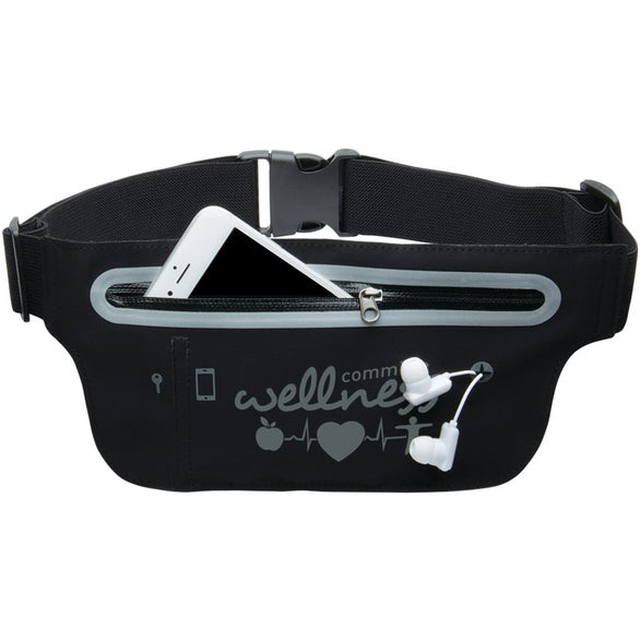 Black Smart Belt Waist Pack