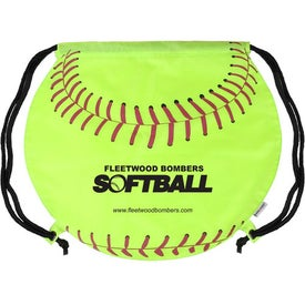 Advertising GameTime Softball Drawstring Backpack