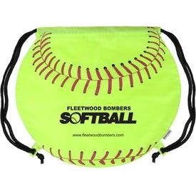 Advertising GameTime Softball Drawstring Backpack