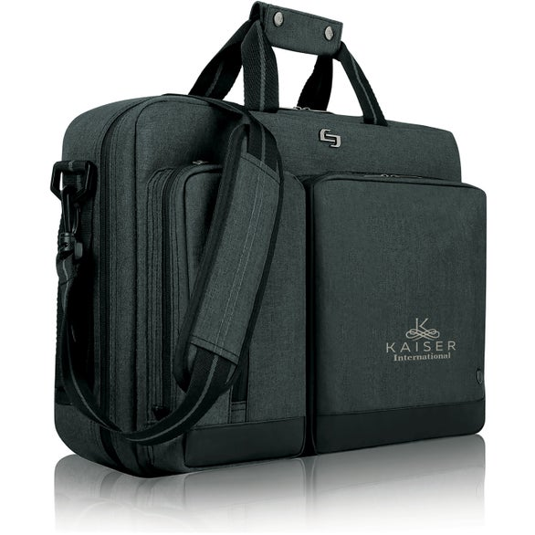 Gray Solo Urban Hybrid Briefcase