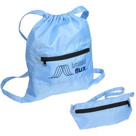 Solstice Foldable Drawstring Backpack for Marketing