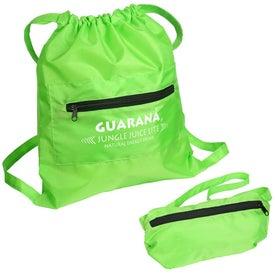 Promotional Solstice Foldable Drawstring Backpack