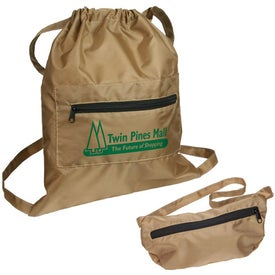 Solstice Foldable Drawstring Backpack for Your Company