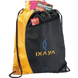 Branded Sonar Drawstring Cinch Backpack