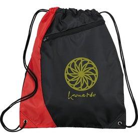Monogrammed Sonar Drawstring Cinch Backpack