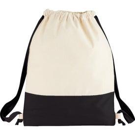 Custom Split Decision Cotton Cinch Bag