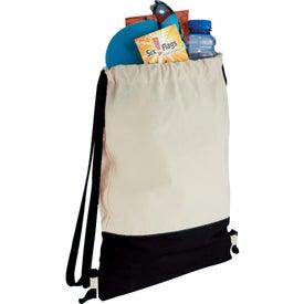 Imprinted Split Decision Cotton Cinch Bag