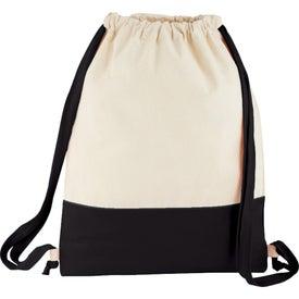 Split Decision Cotton Cinch Bag with Your Logo
