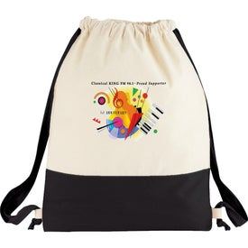Split Decision Cotton Cinch Bag Imprinted with Your Logo