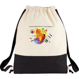 Split Decision Cotton Cinch Bag Imprinted with Your Logo