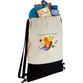 Customized Split Decision Cotton Cinch Bag