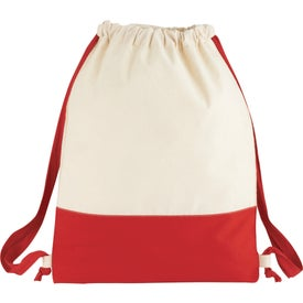 Split Decision Cotton Cinch Bag for Marketing