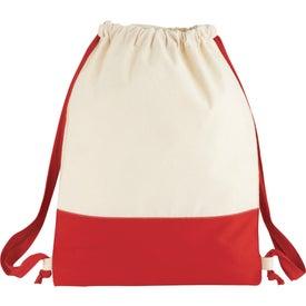 Split Decision Cotton Cinch Bag for Marketing