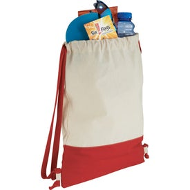 Split Decision Cotton Cinch Bag for Your Church