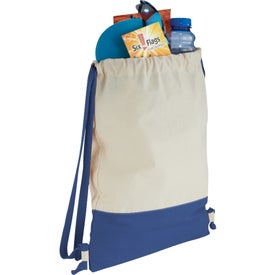 Split Decision Cotton Cinch Bag with Your Logo