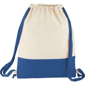 Split Decision Cotton Cinch Bag for Your Organization