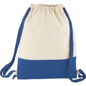 Split Decision Cotton Cinch Bag for Your Organization