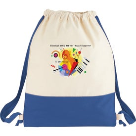 Promotional Split Decision Cotton Cinch Bag