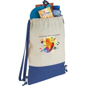 Personalized Split Decision Cotton Cinch Bag