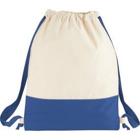 Split Decision Cotton Cinch Bag
