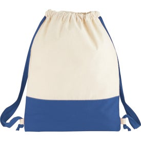 Branded Split Decision Cotton Cinch Bag