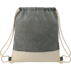 Split Recycled Cotton Drawstring Bag