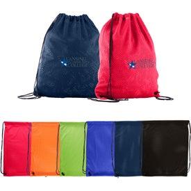 Sports Jersey Mesh Drawstring Backpack