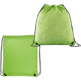 Sports Jersey Mesh Drawstring Backpacks