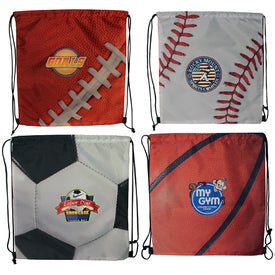 Imprinted Sports Style Drawstring Backpack