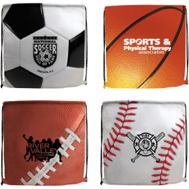 Sports Style Drawstring Backpack Imprinted with Your Logo