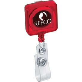 Company Square Retractable Badge Holders