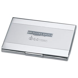 Steel Pearl Business Card Case