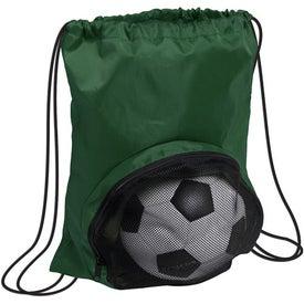 Striker Nylon Drawstring Backpack for Advertising