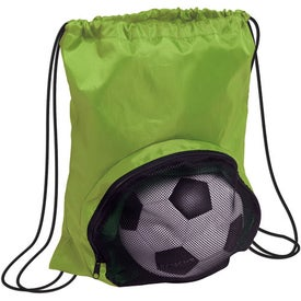 Personalized Striker Nylon Drawstring Backpack