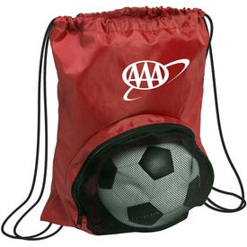 Striker Nylon Drawstring Backpack Imprinted with Your Logo