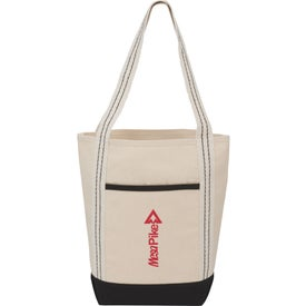 Topsail Stripe Cotton Canvas Boat Tote Bag