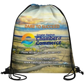 Sublimation Drawstring Cinch Pack Backpack