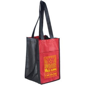 Printed Sun Shower 4 Bottle Wine Bag