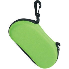 Sunglass Case with Clip with Your Slogan